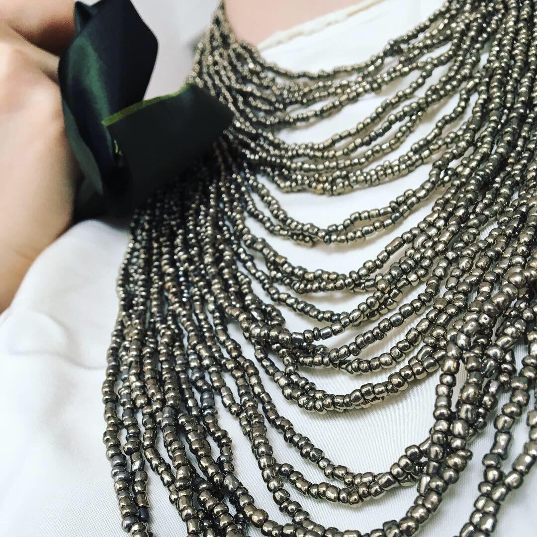 Medea necklace detail. Costume Design: Alexandria Hoffman