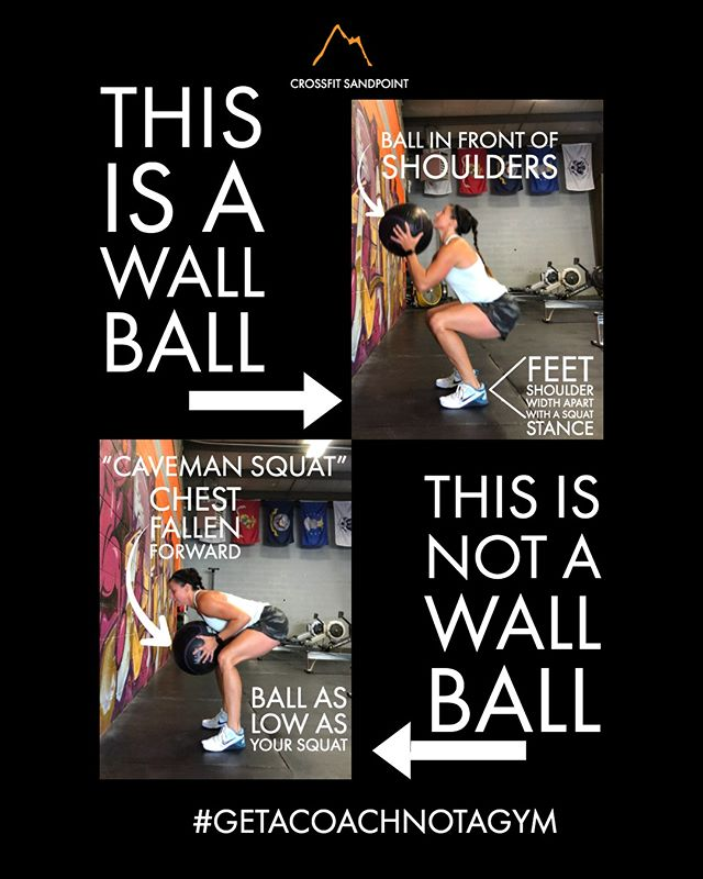 Wall Balls! Everyone's favorite right? 😆⁠ ⁠ Always remember to descend down into a full squat, and use the full joy of having to do wall balls😉 to drive up through your heels, and aggressively extend hips and knees! Catch high, Throw high!⁠ ⁠ ⁠ Are you ready to get started? ⁠ Book your No Sweat Intro here or the link in the bio! ⁠ http://www.crossfitsandpoint.com/gettingstarted⁠ .⁠ .⁠ #crossfit #sandpoint #7b #fitfam #fitness #strengthandconditioning #getacoachnotagym #7bliving #northidaho #fitness #nutrition #precisionnutritioncoach #macrolifestyle #flexibledieting #protein #twobrainbusiness #makefitnessfun #functionalfitness