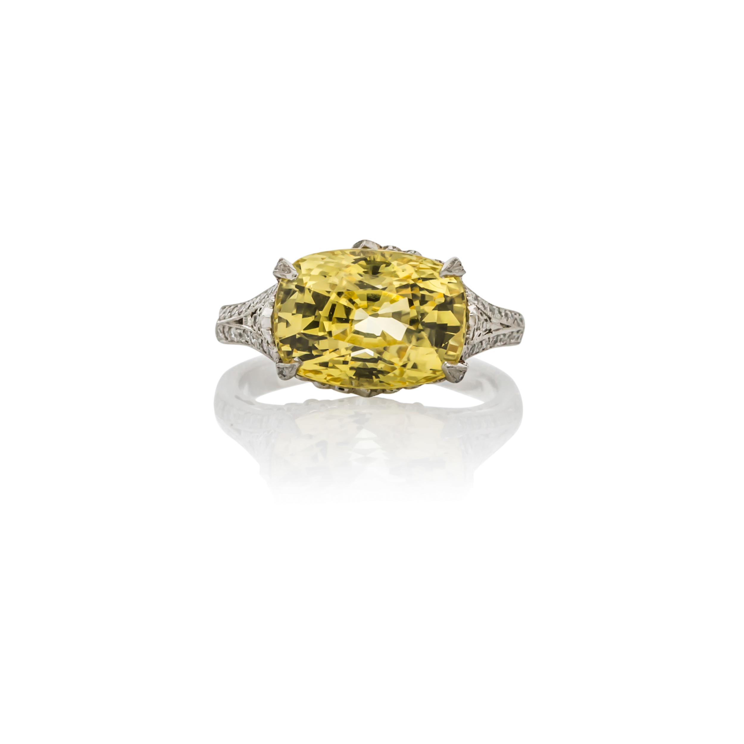 CUSTOM YELLOW SAPPHIRE AND DIAMOND RING