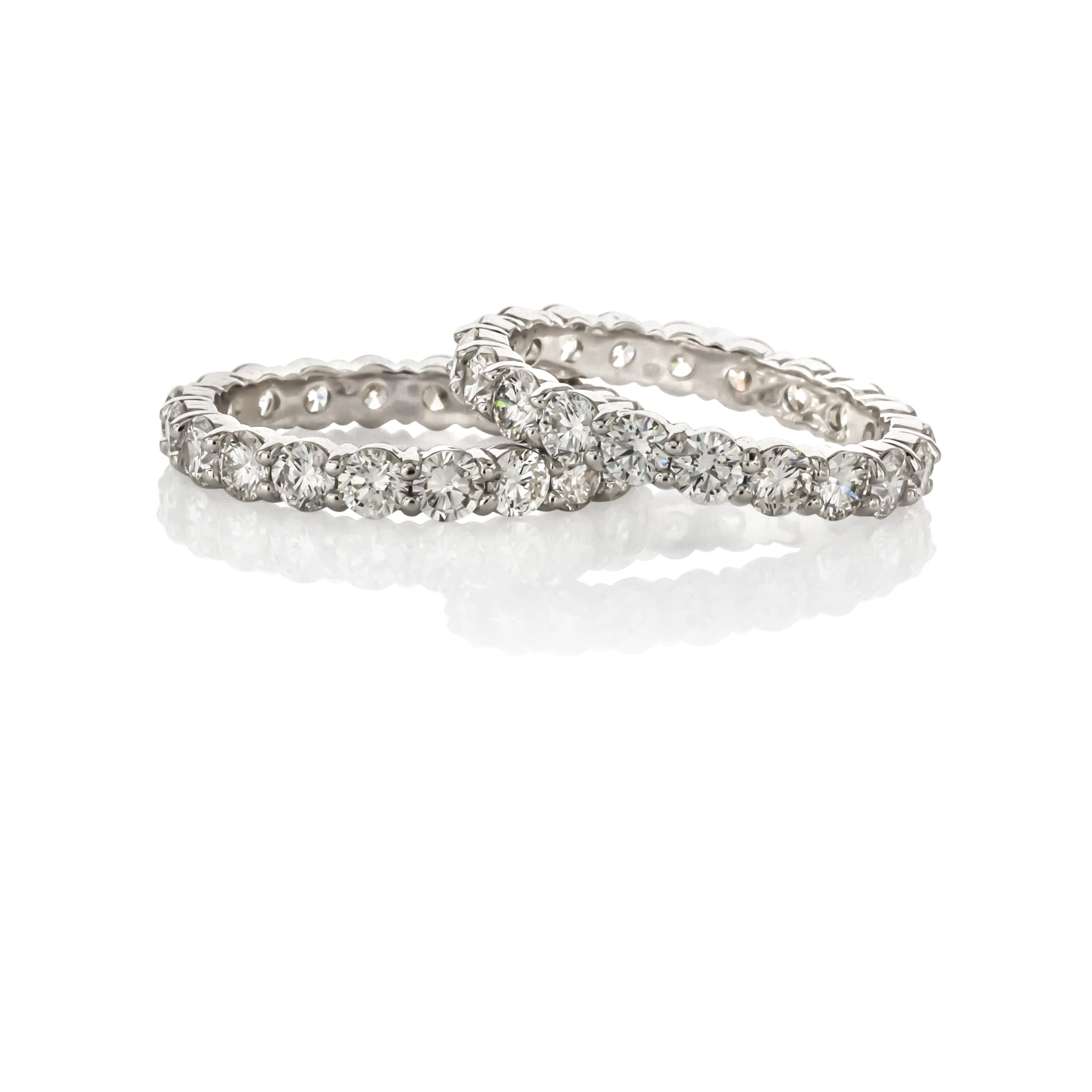 CUSTOM SHARED PRONG DIAMOND ETERNITY BANDS