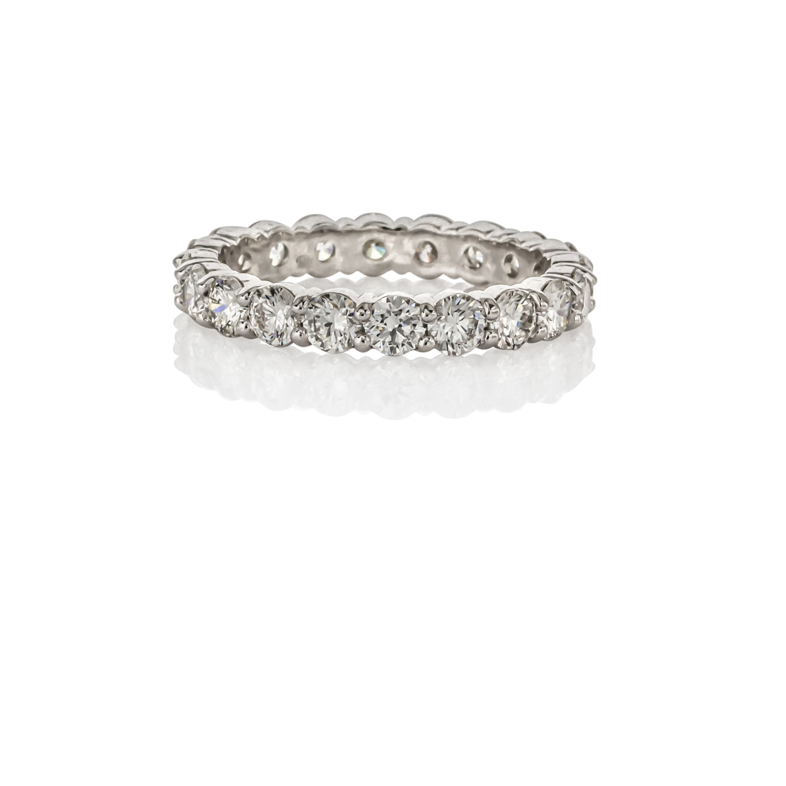 CUSTOM SHARED PRONG DIAMOND ETERNITY BAND