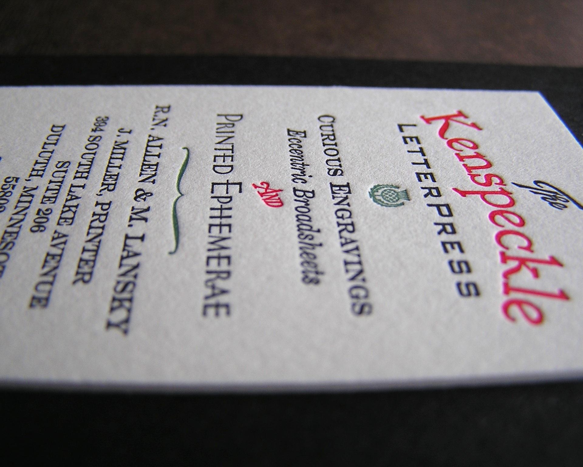 Design by Kenspeckle Letterpress