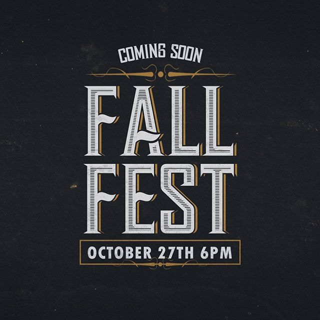 FALL FEST 2019: It's that time of the year again! Get in your best costume, get ready for amazing BBQ by Travis Botts, get ready for games, candy, and more! Bring your friends and family! October 27th 6pm!