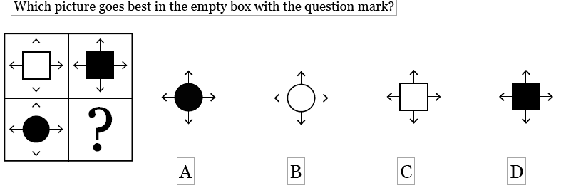 example figural analogies question from the olsat-8