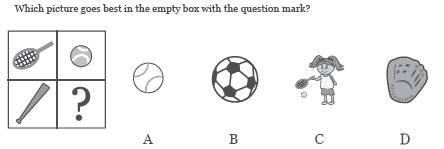 cogat Level 5/6 pictoral analogy question