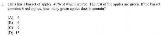 ISEE QR SAMPLE QUESTION
