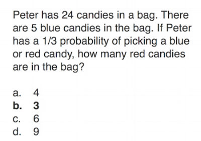 ITBS Mathematics Sample Question