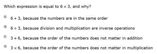 SBAC - Grade 3 - Mathematics Practice Test - Sample Question