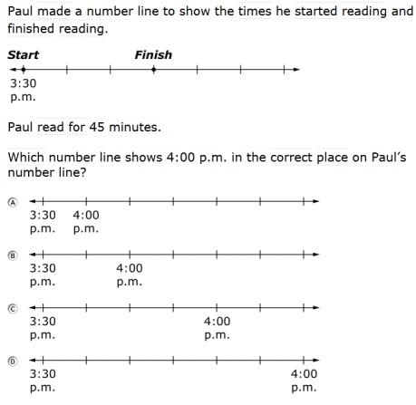 SBAC - Grade 3 - Mathematics Modeling and Data Analysis Sample Question