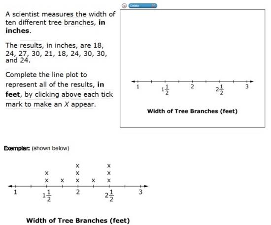SBAC - Grade 5 - Mathematics Problem Solving - Sample Question