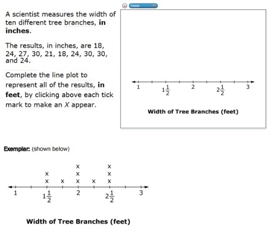 SBAC - Grade 5 - Mathematics Problem Solving - Sample Question