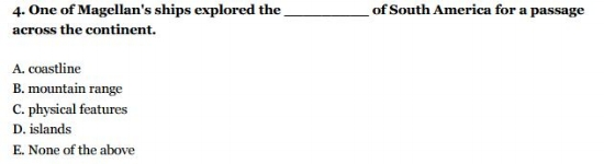 HSPT Practice Test - Reading Fill in the blank Question- Sample