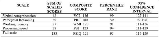 Wechsler  Practice Test Online - S core Report