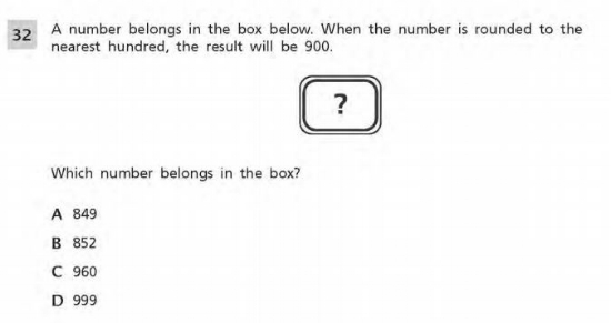 3rd Grade Math example : Number and Operations in Base 10