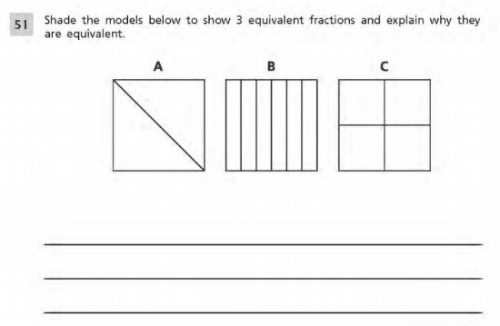 3rd Grade Math example :- Fraction Sample 2