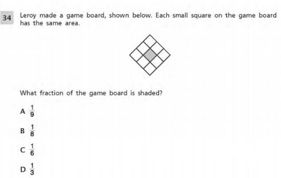3rd Grade Math example :- Geometry Sample Question 1