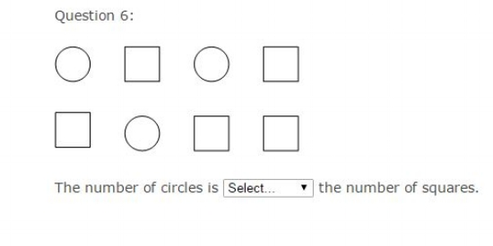 Common Core Math Examples - Counting and Cardinality Sample Question