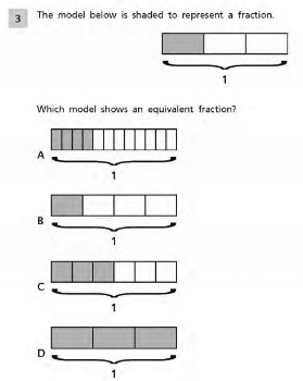 Common Core Math Examples - Fractions Sample Question