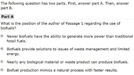 AzMERIT Tests -Reading Part A sample