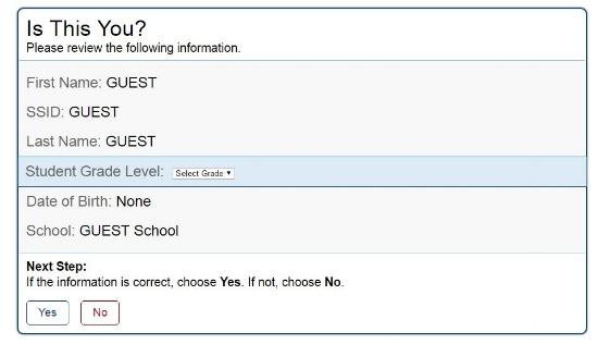 AzMERIT - How to access Test online - Screenshot