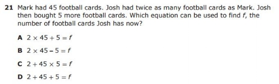 STAAR 4th Grade  sample QUESTION  - Multi-Step Problem example