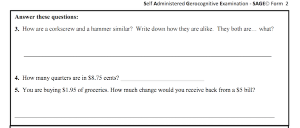 sage assessment sample questions