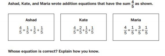 GMAS 4th gradeUnderstanding Fractions sample