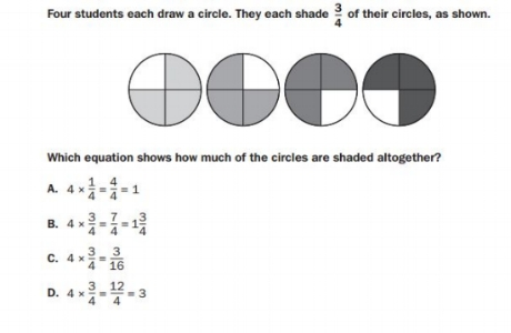GMAS 5th grade - Fractions sample