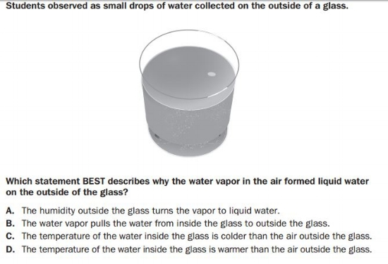 GMAS 5th grade - - Physical Science sample