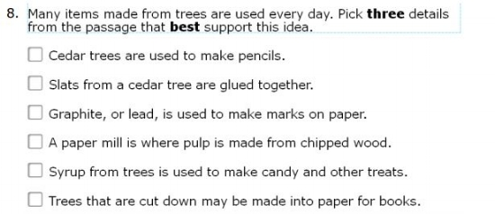 SBAC Practice Test 3rd Grade   - Key Details sample