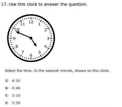SBAC - 3rd Grade - Time sample