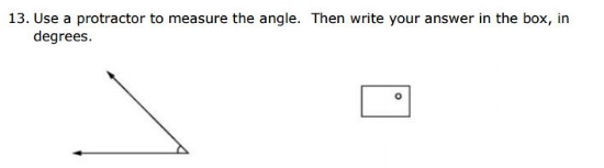 Free SBAC Practice Test 4th Grade -  angles sample