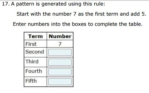 Smarter Balanced Practice Test - 4th gradePatterns sample
