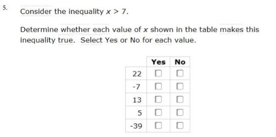 sbac - 6th gradeInequality sample