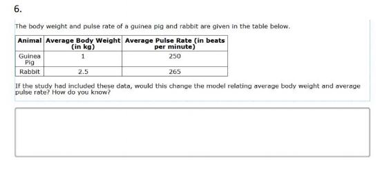 Smarter Balanced Test - 8th gradeModeling 2 sample