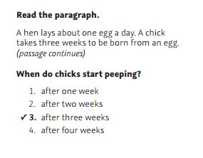 NWEA Practice Test 3rd Grade Test  -Stated Explicitly sample