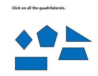 NWEA Practice Test 3rd Grade Test  -Geometry sample