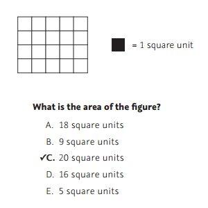 NWEA Practice Test 3rd Grade Test  -Area sample