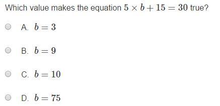 MCA Practice Test  -5th Algebra sample