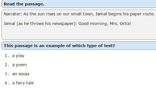 NWEA Practice Tests -Type of Writing sample