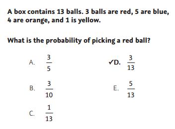 NWEA Practice Tests - Probability sample