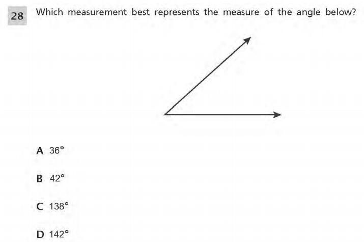 NYS Math Practice Test 4th Grade - Measurement sample