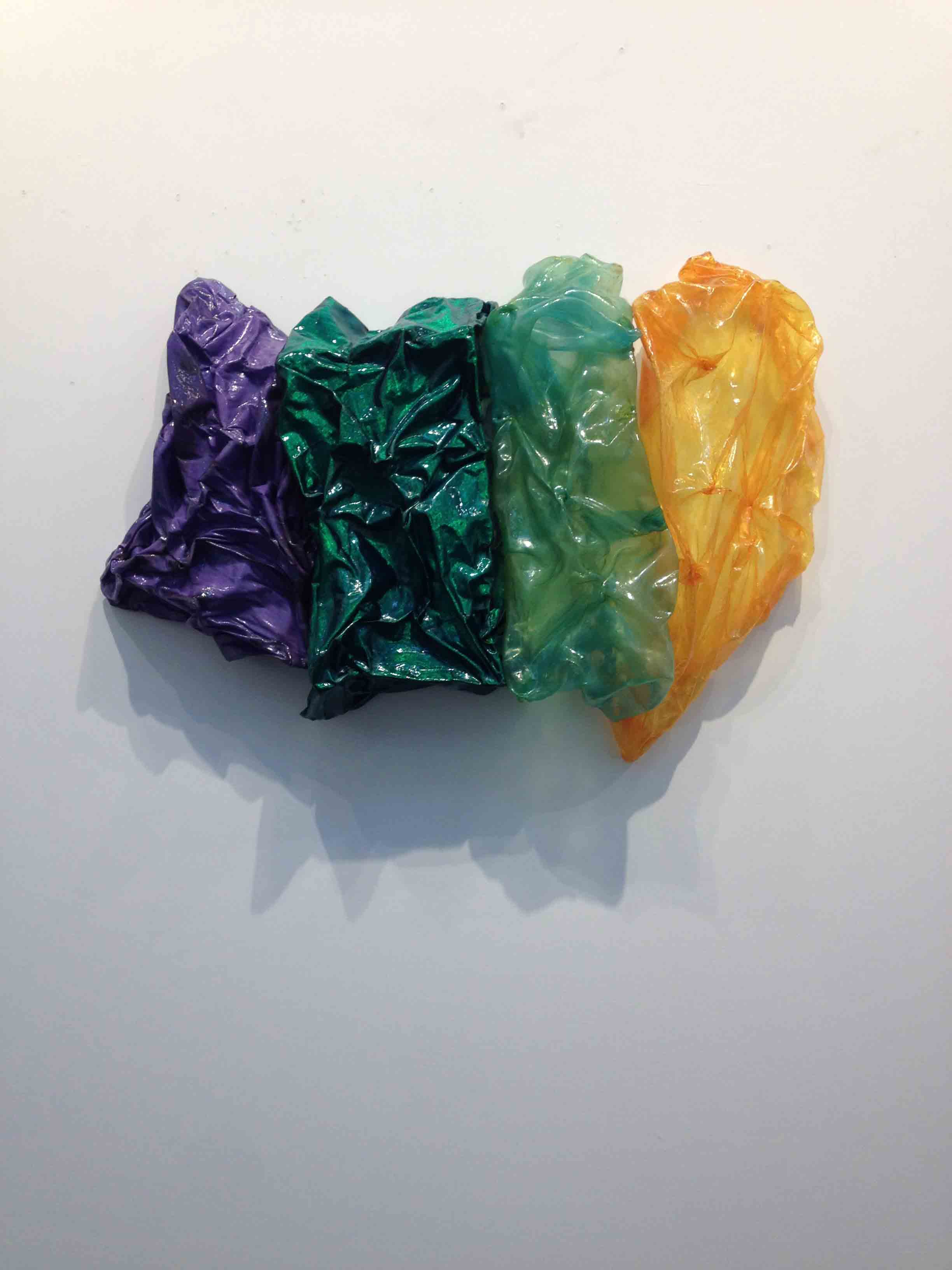Its a crowd tickler, Janavi MFolmsbee, Fabric treated to feel and look like plastic, various mediums & oil.  36%22X20%22 $1800.JPG