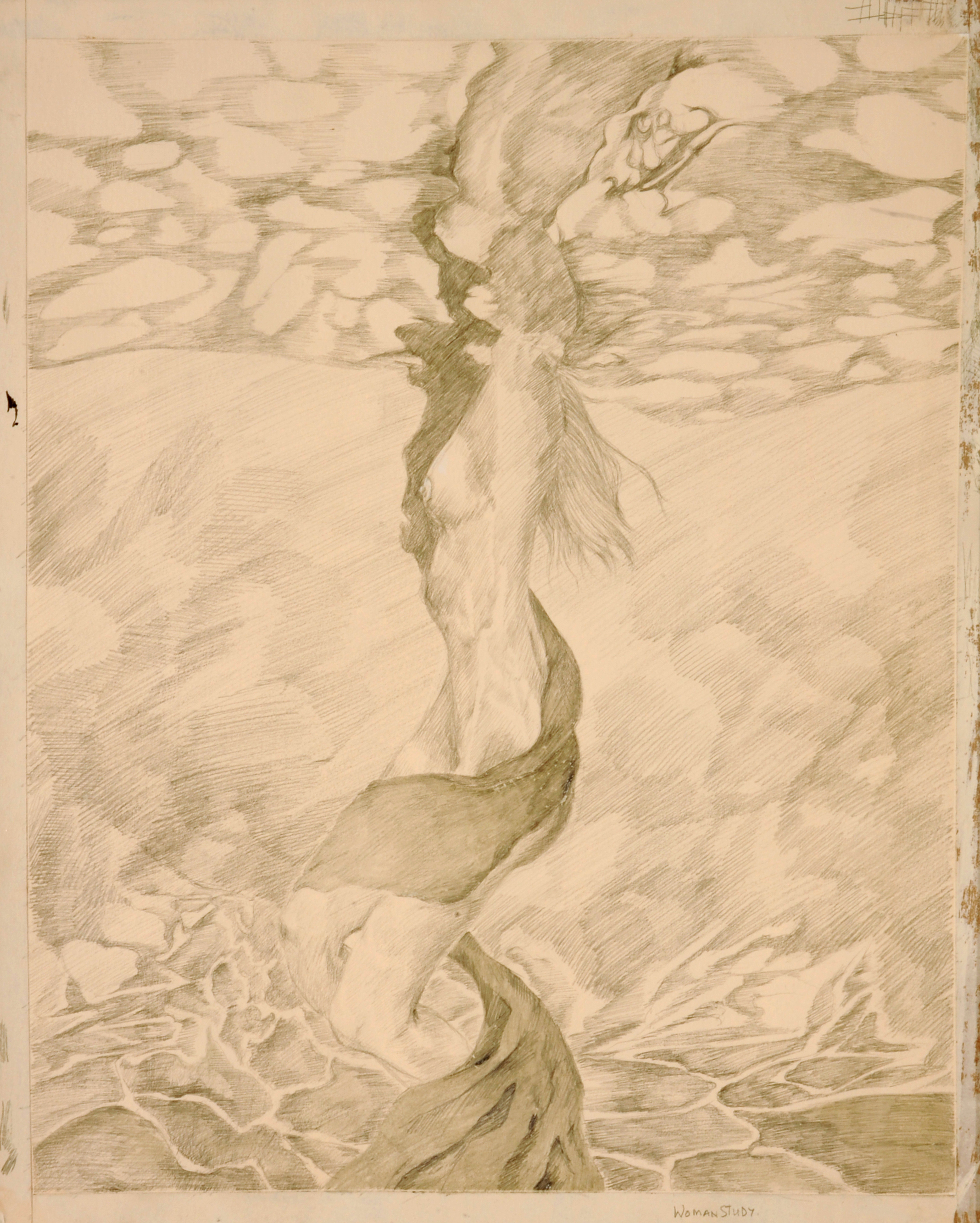 lady in the water, Silver point. .jpg