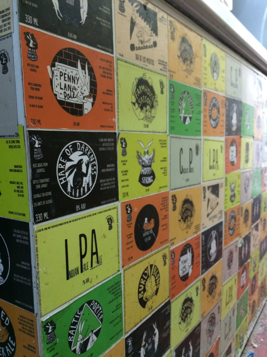 A look back at ALL the Mad Hatter labels......lovingly stuck on one of their downstairs fridges!