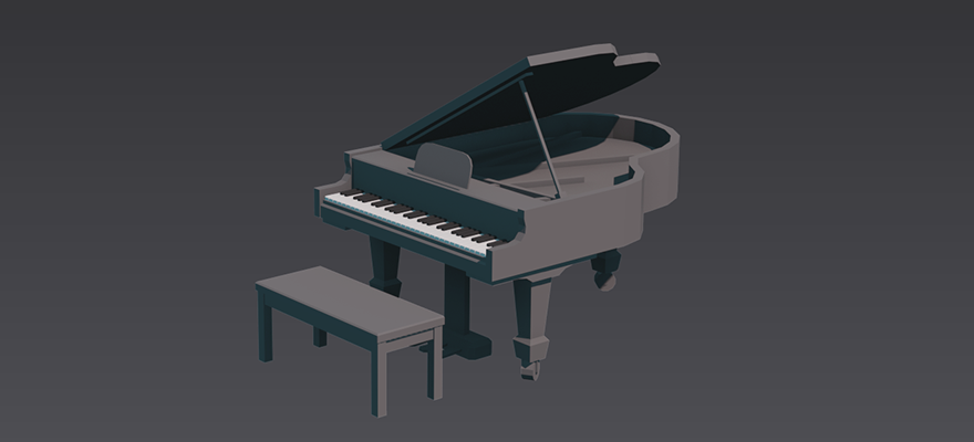 A cartoony piano. Fun for all.