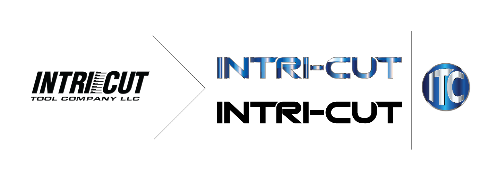 Case Study 2: We recently adapted the Intri-Cut logo to better represent this cutting edge business, adding dimension and icon alternatives. The new look is sharp, sleek, and capable of being simplified and reproduced in multiple applications.
