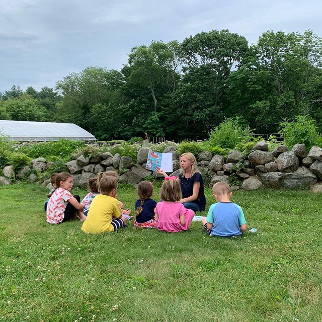 Great morning on the farm!! We had local author Jennifer Montgomery come and read at our story time and had a lovely bundle of vegetables delivered to the council on aging once again!
