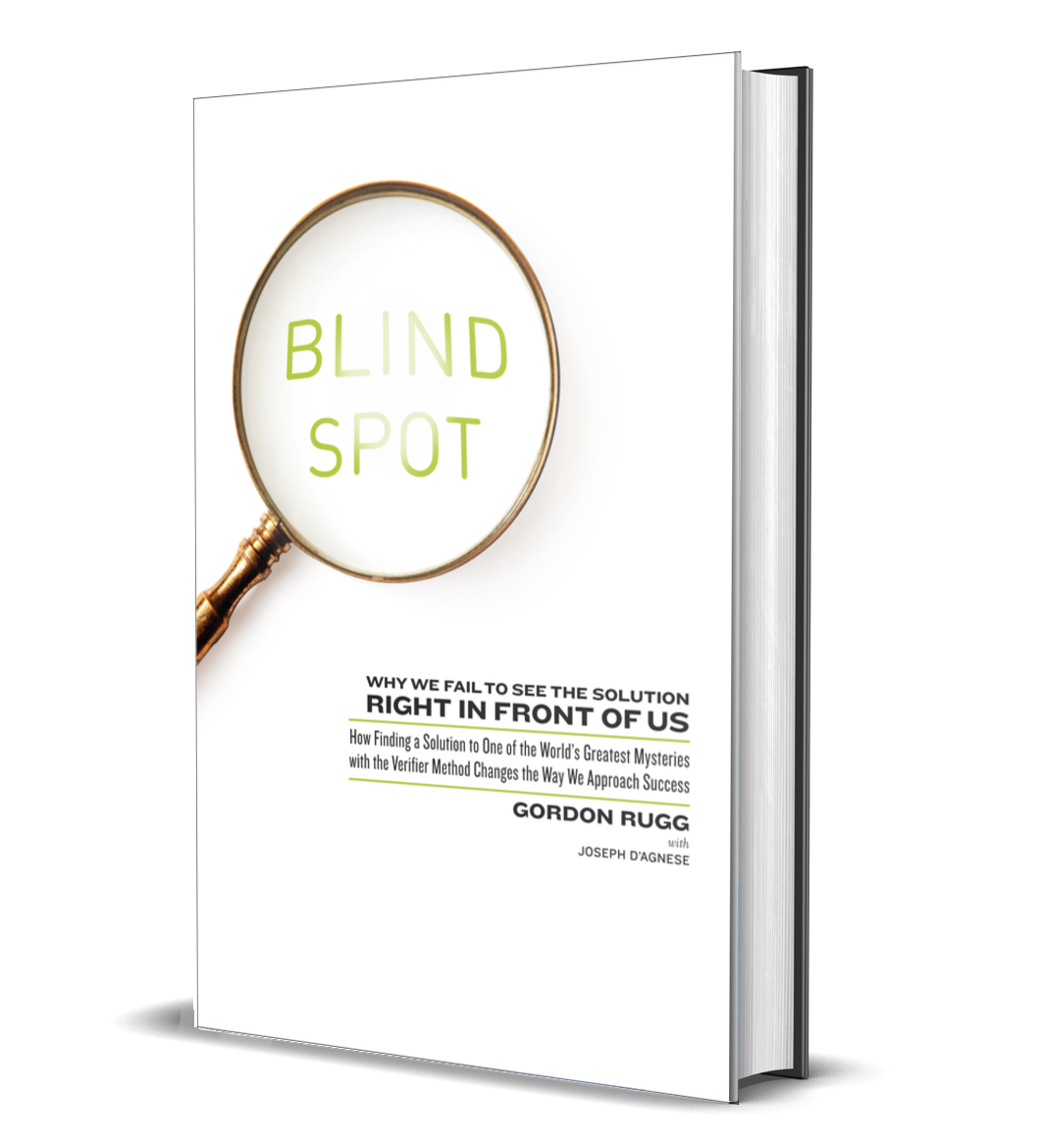 BLIND SPOT BY GORDON RUGG JOSEPH D'AGNESE