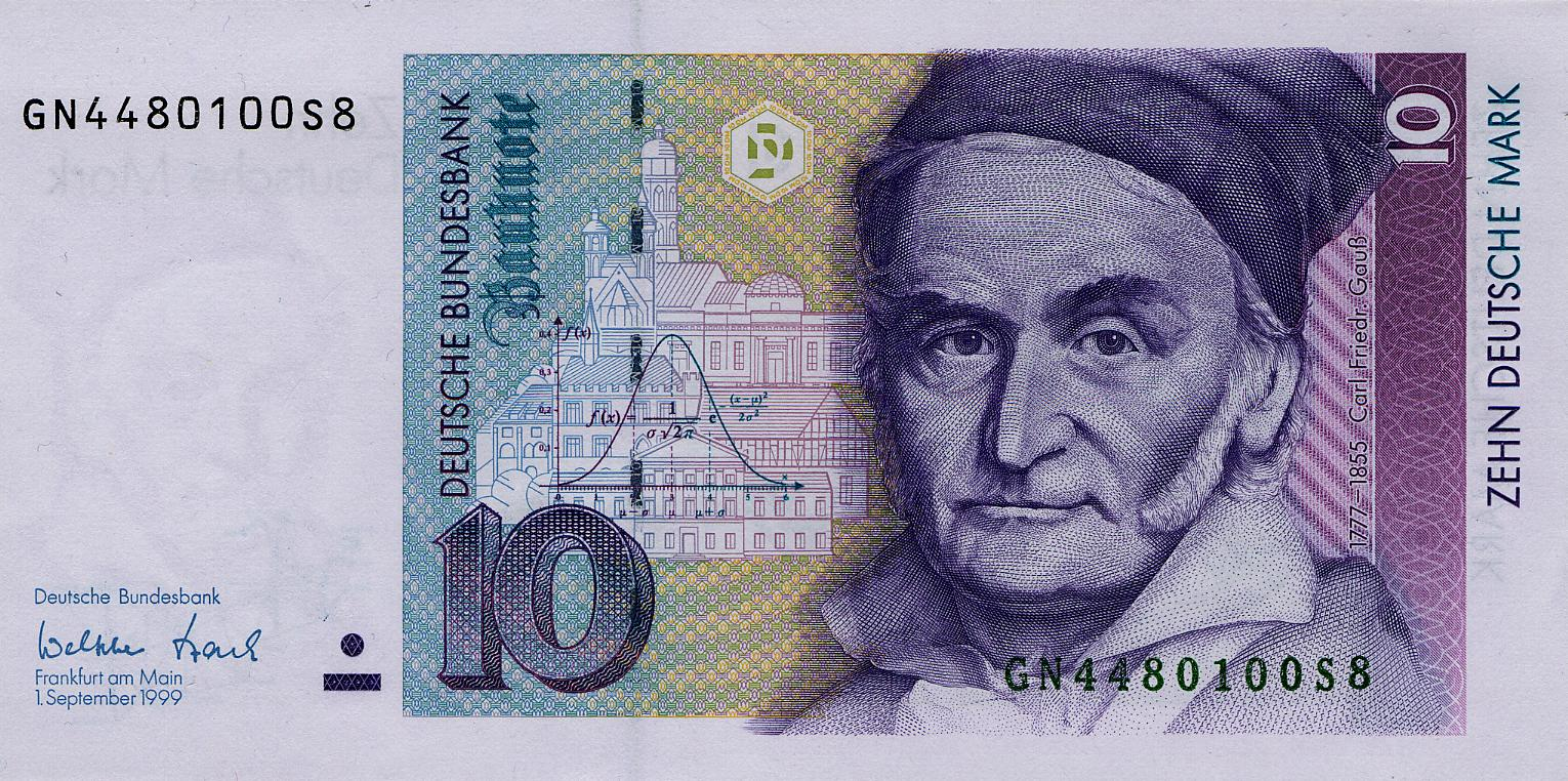 Gauss Currency via Wikipedia